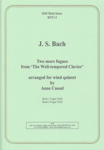 TWO MORE FUGUES from The Well-Tempered Klavier