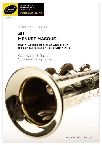 4U Menuet Masque (score & parts)
