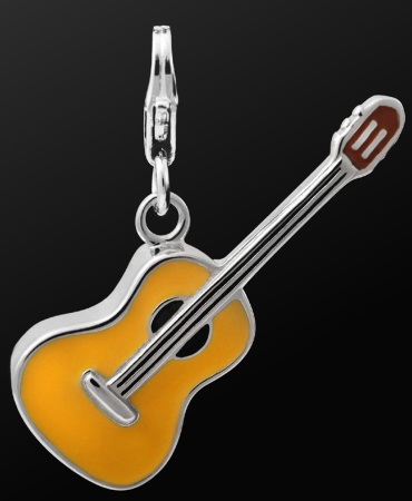 STERLING SILVER CHARM Guitar