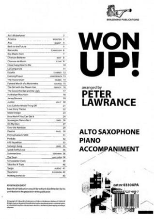 WON UP! Piano Accompaniment for Alto Saxophone