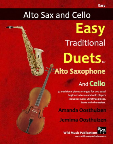EASY TRADITIONAL DUETS for Alto Saxophone & Cello