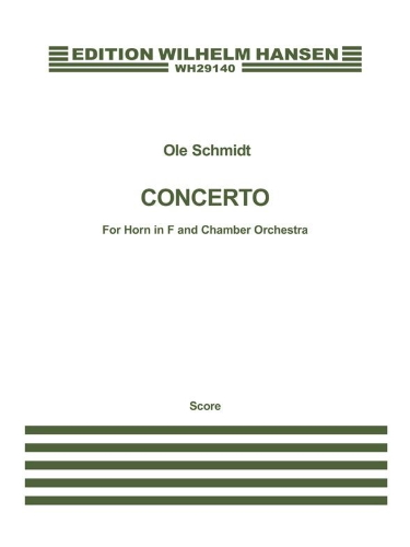 CONCERTO for Horn & Chamber Orchestra (score)
