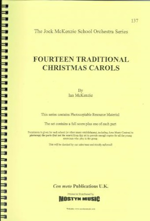 14 TRADITIONAL CHRISTMAS CAROLS (score & parts)