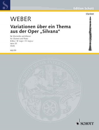 VARIATIONS on a Theme from the Opera 'Silvana' Op.33