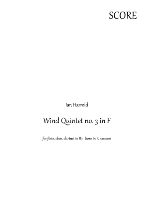 WIND QUINTET No.3 (score & parts)
