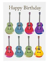 BIRTHDAY CARD -Jazzy Acoustic Guitar (7in x 5in)