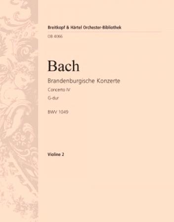 BRANDENBURG CONCERTO No.4 2nd violin part