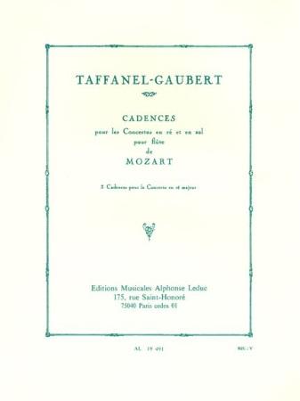 CADENZAS to Flute Concerto No.2 K314