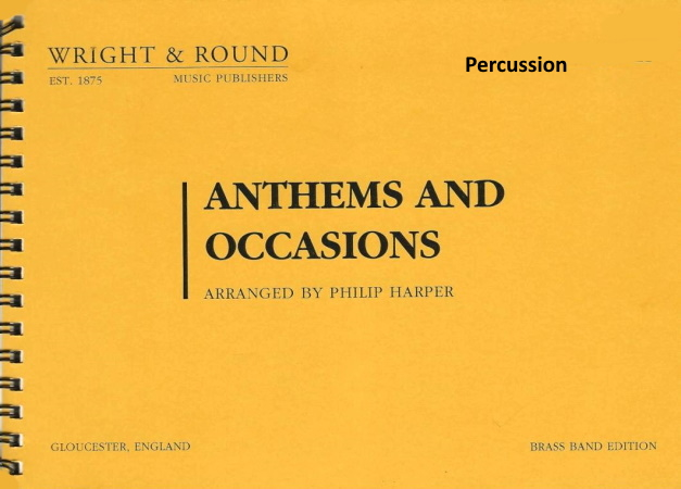 ANTHEMS AND OCCASIONS percussion