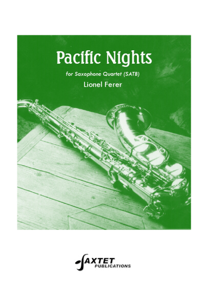 PACIFIC NIGHTS (score & parts)
