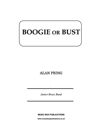 BOOGIE OR BUST (score & parts)