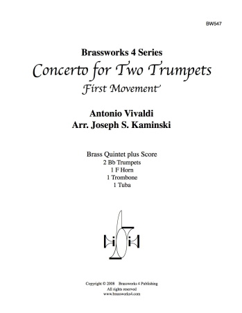 CONCERTO for Two Trumpets, 1st movement