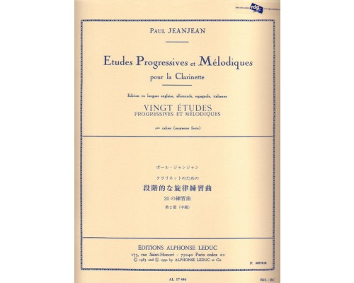 ETUDES PROGRESSIVES ET MELODIQUES Volume 2