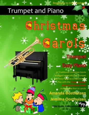 CHRISTMAS CAROLS  for Trumpet & Easy Piano