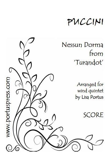 NESSUN DORMA (score & parts)