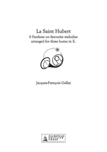 SAINT HUBERT FANFARES (score & parts)