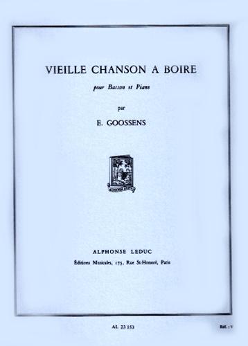 VIEILLE CHANSON A BOIRE