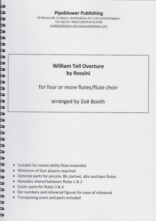 WILLIAM TELL Overture (score & parts)