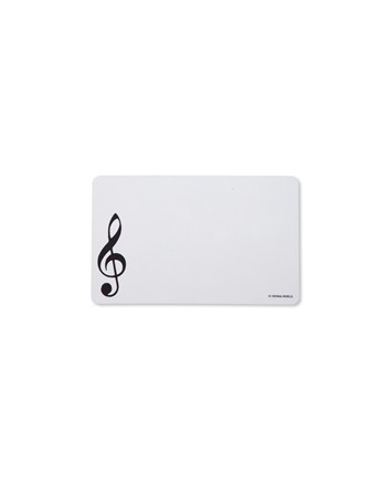 CUTTING BOARD Treble Clef (White)