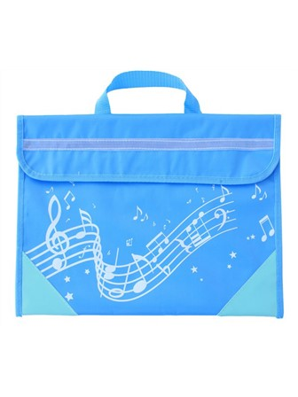 MUSIC BAG Wavy Stave (Light Blue)
