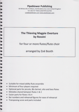 THE THIEVING MAGPIE Overture score & parts