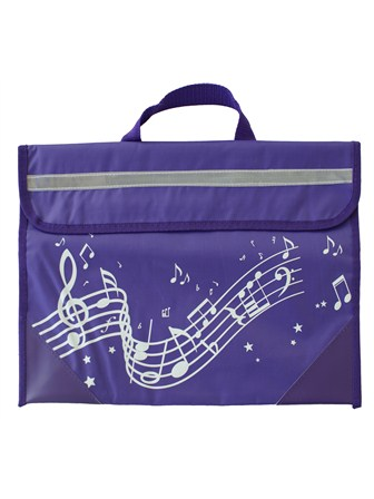 MUSIC BAG Wavy Stave (Purple)