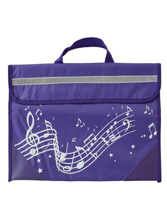 MUSIC BAG Wavy Stave (Purple)