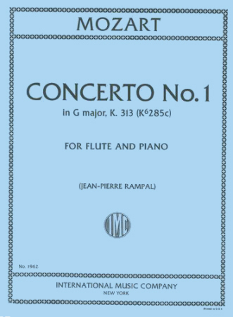 CONCERTO No.1 in G major K313