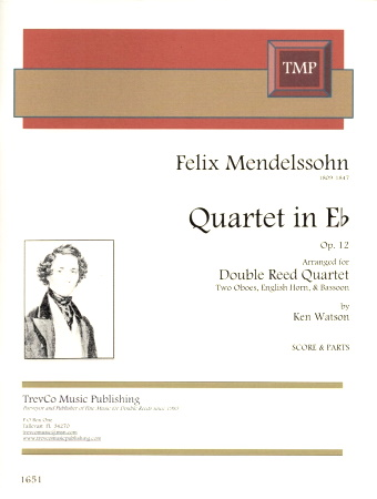 STRING QUARTET in Eb major No.12 (score & parts)