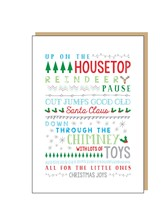 CHRISTMAS CARD Up On The Housetop
