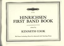 HINRICHSEN FIRST BAND BOOK (score/piano)