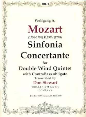 SINFONIA CONCERTANTE K297b (set of parts)