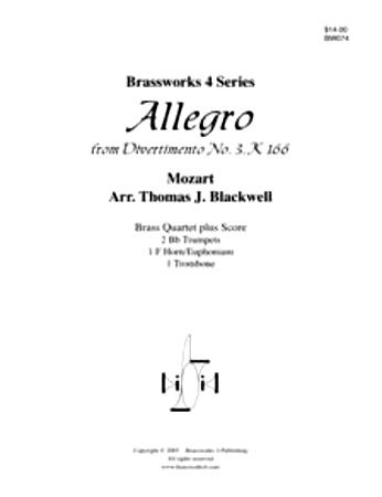 ALLEGRO from Divertimento No.3 K166