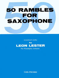 50 RAMBLES for Saxophone