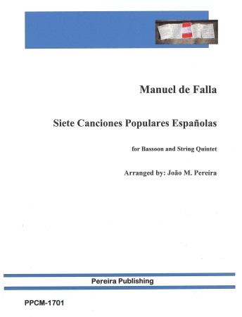 SIETE CANCIONES POPULAIRES ESPANIOLAS (score & parts)