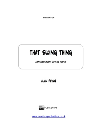 THAT SWING THING (score & parts)