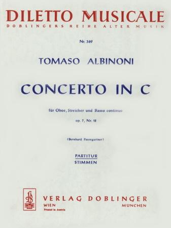 CONCERTO Op.7/12 in C score