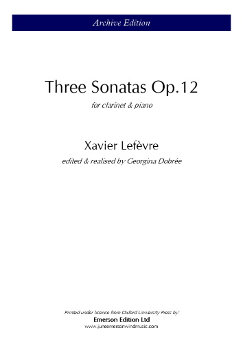 THREE SONATAS Op.12