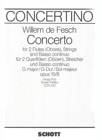 CONCERTO in G Op.10/8 score
