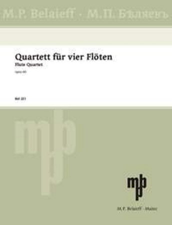 FLUTE QUARTET Op.60 (score & parts)