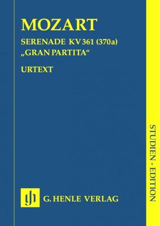 GRAN PARTITA in Bb major KV 361 (study score)