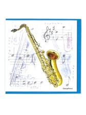 NOTELETS Saxophone Design (Pack of 5)