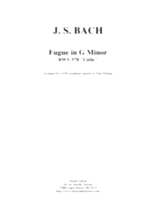 FUGUE in G minor BWV578 'Little'