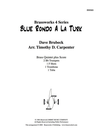 BLUE RONDO A LA TURK score & parts