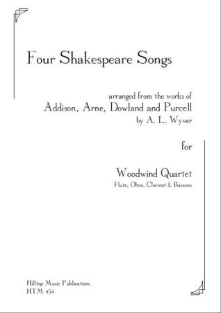FOUR SHAKESPEARE SONGS (score & parts)