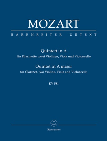 QUINTET in A major K581 Urtext (score)