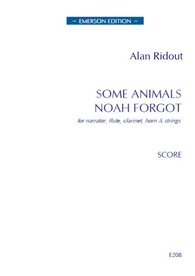 SOME ANIMALS NOAH FORGOT (score)