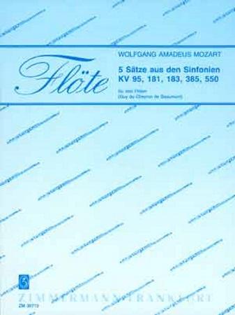 FIVE PIECES from Symphonies KV95, KV181, KV183, KV385 & KV550