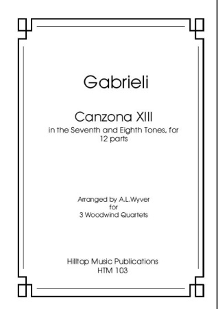 CANZONA XIII (score & parts)