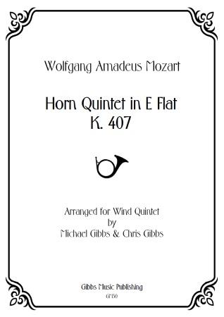 HORN QUINTET in Eb major K407 (score & parts)